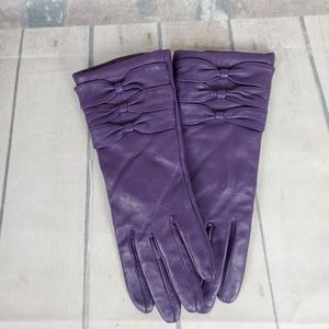 Vintage Danier Leather Gloves Purple Small